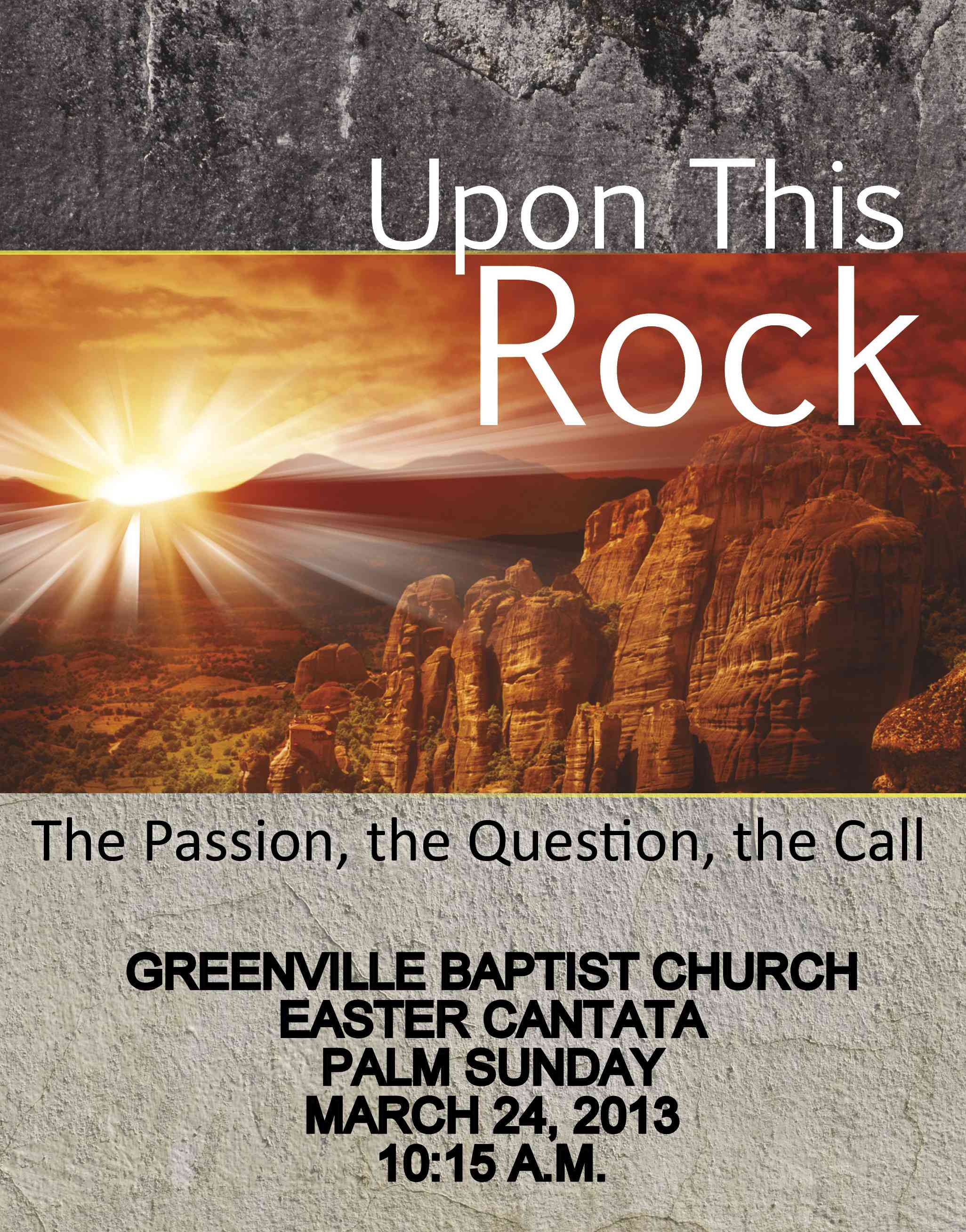 Easter Cantata - Palm Sunday - Click for Details!
